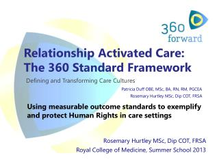 Relationship Activated Care: The 360 Standard Framework Defining and Transforming Care Cultures