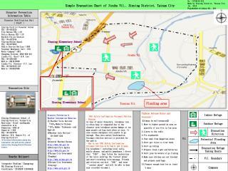 Simple Evacuation Chart of Jioubu Vil., Sinying District, Tainan City