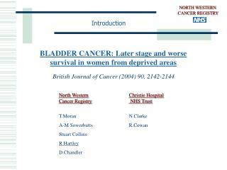 NORTH WESTERN  CANCER REGISTRY