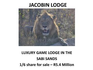 JACOBIN LODGE