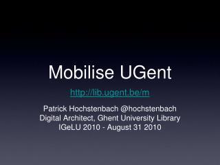 Mobilise UGent