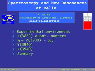 Spectroscopy and New Resonances            at Belle