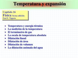 Temperatura y expansión