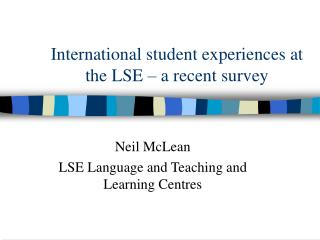 International student experiences at the LSE – a recent survey