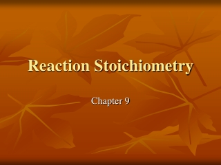 6 steps to solving Stoichiometry problems