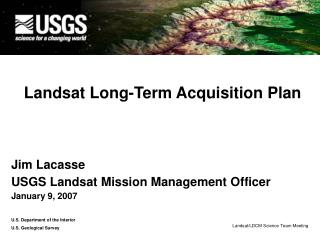 Landsat Long-Term Acquisition Plan