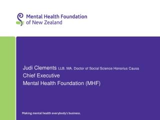 Judi Clements  LLB. MA. Doctor of Social Science Honorius Causa Chief Executive