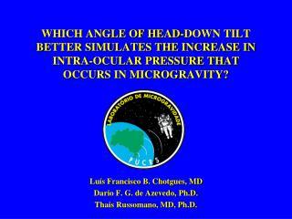 Luís Francisco B. Chotgues, MD Dario F. G. de Azevedo, Ph.D. Thais Russomano, MD, Ph.D.
