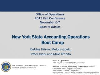 New York State Accounting Operations  Boot Camp