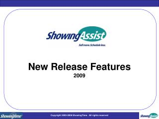 New Release Features 2009
