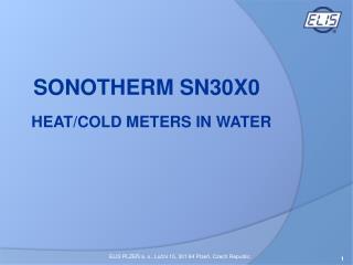 HEAT/COLD METERS  IN WATER