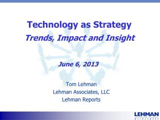 Technology as Strategy Trends, Impact and Insight