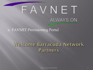 Welcome Barracuda Network Partners