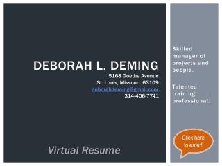 Deborah L. Deming