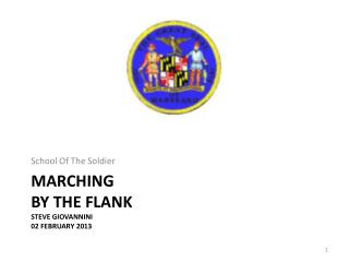 Marching By The Flank Steve Giovannini 02 February 2013