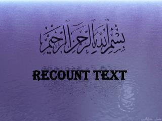 RECOUNT TEXT