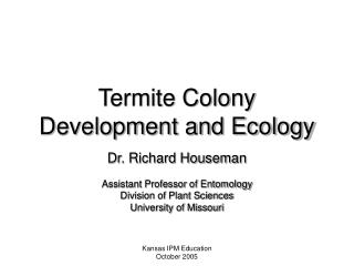 Termite Colony Development and Ecology