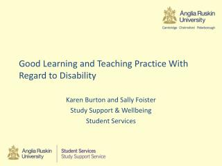 Good Learning and Teaching Practice With  R egard to Disability