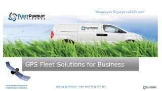 GPS Fleet Solutions for Business