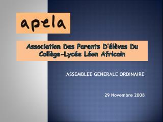 Association Des Parents D'élèves Du Collège-Lycée Léon Africain