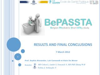 RESULTS  AND FINAL CONCLUSIONS 7 March  2012