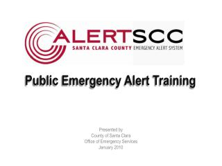 Public Emergency Alert Training