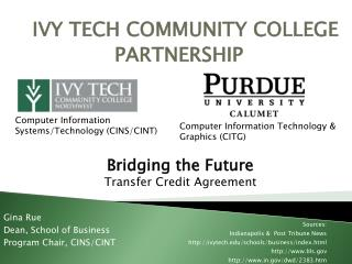 IVY TECH COMMUNITY COLLEGE PARTNERSHIP