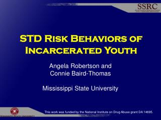STD Risk Behaviors of Incarcerated Youth