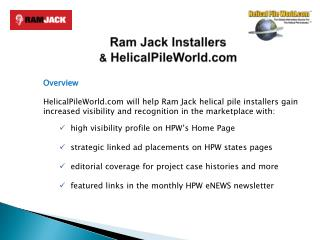 Ram Jack Installers &  HelicalPileWorld