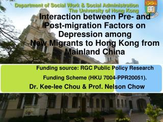 Dr. Kee-lee Chou & Prof. Nelson Chow