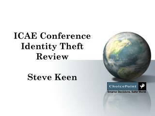 ICAE Conference Identity Theft Review Steve Keen