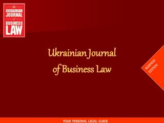 Ukrainian Journal of Business Law