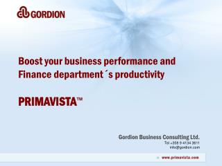 Gordion Business Consulting Ltd. Tel +358 9 4134 3611 info@gordion