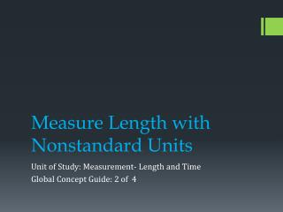 Measure Length with Nonstandard Units