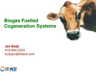 Biogas Fuelled Cogeneration Systems