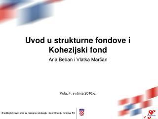 Uvod u strukturne fondove i Kohezijski fond