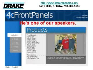 4cfrontpanels/ Tony Mills, KF8MW, 740-808-1444