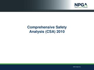 Comprehensive Safety  Analysis (CSA) 2010