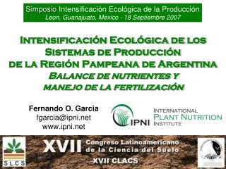 Fernando O. Garcia fgarcia@ipni ipni