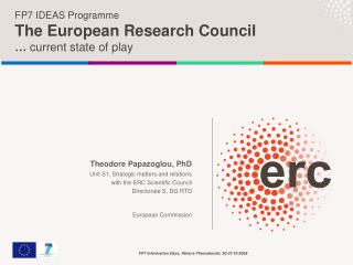 FP7 IDEAS Programme The European Research Council …  current state of play