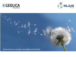 Soluciones  en  energía renovable distribuida