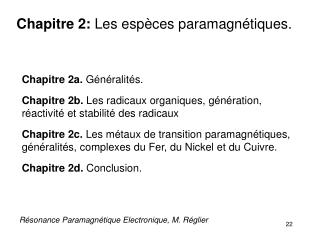 R�sonance Paramagn�tique Electronique, M. R�glier
