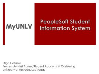 PeopleSoft Student Information System