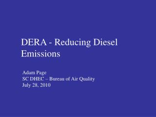 DERA - Reducing Diesel Emissions