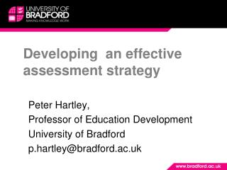 Developing  an effective assessment strategy