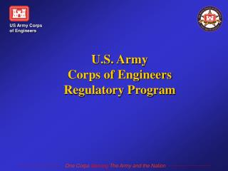 U.S. Army Corps of Engineers Regulatory Program