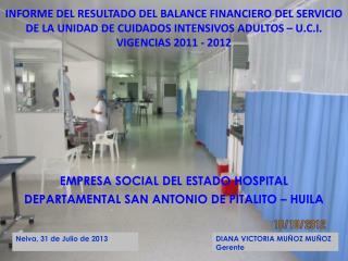 INFORME DEL RESULTADO DEL BALANCE FINANCIERO DEL SERVICIO