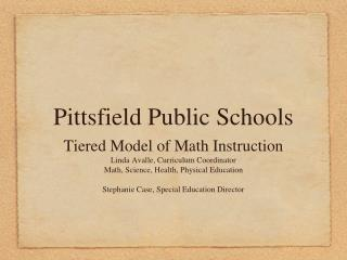 Pittsfield Public Schools
