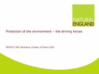 Protection of the environment – the driving forces
