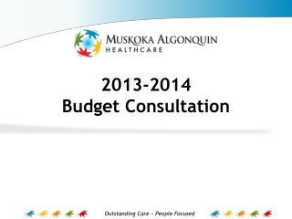 2013-2014  Budget Consultation